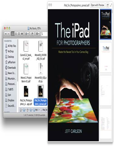 Description: To switch to full-screen mode when using Quick Look with a PDF or Web archive in Mountain Lion, move the cursor to the title bar and spread your fingers