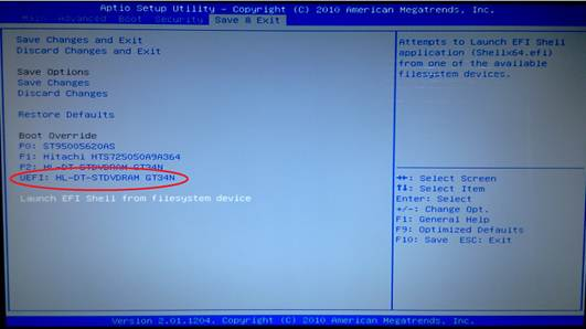 Description: UEFI (Unified Extensible Firmware Interface) - Install Windows 8 with