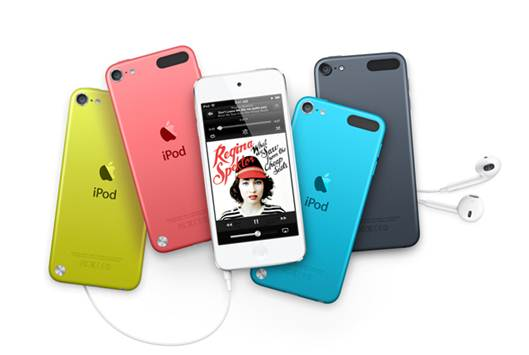 Description: the new iPod Touch comes with a 4-inch Retina display with a resolution of 1136 x 640 and a dual-core A5 chip