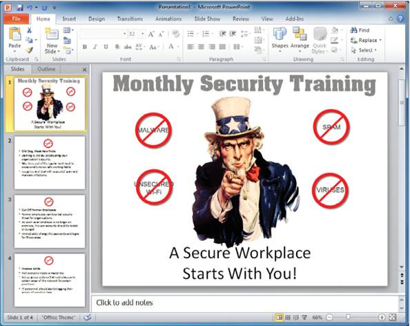 Description: Regularly review security policies and best practices with employees