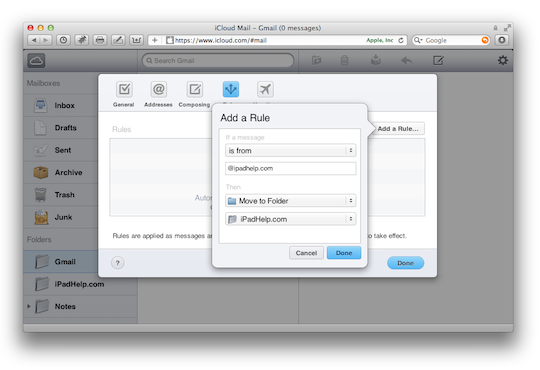 Description: Set up an alias by logging into the Preferences of your iCloud Mail account – great for spam protection
