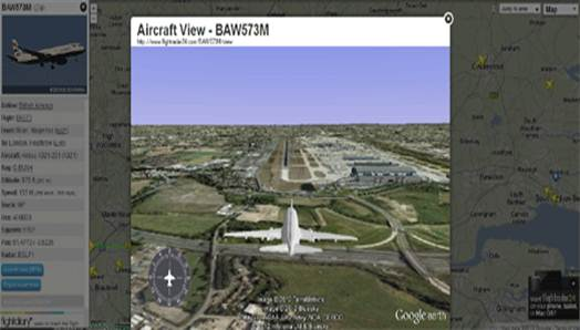 Description: Real-time flight tracking website FlightRadar24 has added an awesome new Google Earth