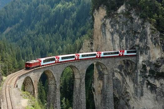 Description: Take a train through the Swiss Alps